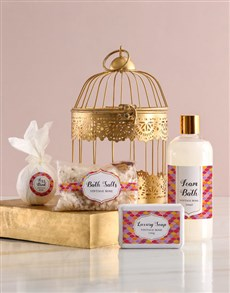 gifts: Bright Tiles Gold Bird Cage Gift!