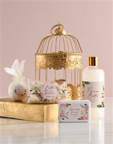 gifts: Vintage Rose Gold Bird Cage Gift!