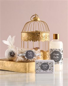 gifts: Glam Rose Gold Bird Cage Gift!
