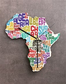 gifts: Continent Africa Clock!