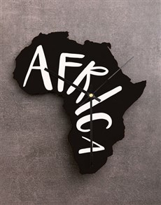 gifts: Africa MDF Clock!