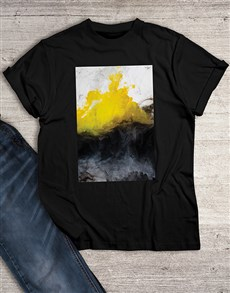 gifts: Yellow Colour Splash T Shirt!