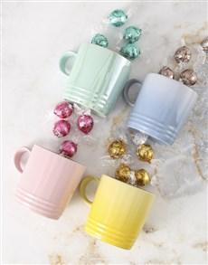 flowers: Le Creuset Pastels Mug Hamper !