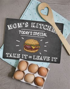 gifts: Kitchen Mom Glass Chopping Board!