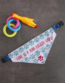 gifts: Love Paw Bandanna And Toys!