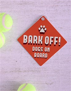 gifts: Bark Off Car Sign!