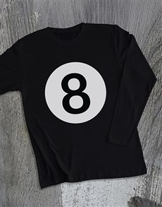gifts: 8 Ball Long Sleeve T Shirt!