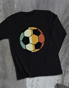 gifts: Vintage Colour Soccer Ball Long Sleeve T Shirt!