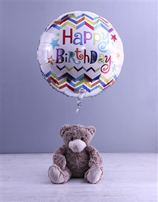 gifts: Birthday Teddy And Balloon Gift!