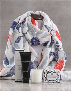 gifts: Blue Garden Scarf and Charlotte Rhys Gift!