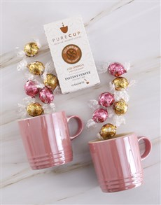gifts: Le Creuset Metallic Rose Quarts Mug Set !