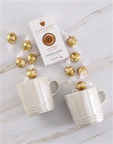 gifts: Le Creuset Metallic Crème Mug Set !