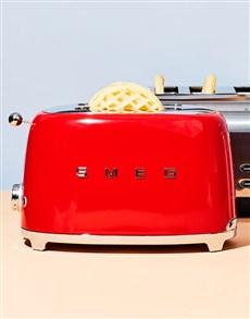 gifts: SMEG Retro 2 Slice Toaster Red!