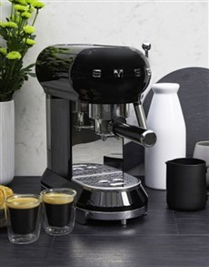 gifts: SMEG Retro Espresso Coffee Machine Black!