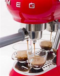 gifts: SMEG Retro Espresso Coffee Machine Red!