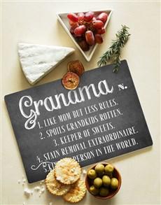 gifts: Grandma Glass Chopping Board !