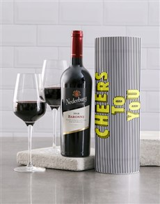 gifts: Cheers To You Striped Wine Tube!
