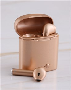 gifts: Bluetooth Rose Gold Earbuds!