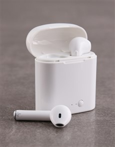 gifts: Bluetooth White Earbuds!