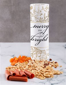 gifts: Merry And Bright Fruit And Nuts Tube!