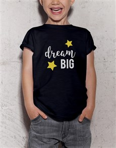 gifts: Dream Big Kids Black T Shirt!
