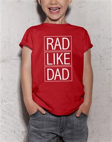 gifts: Rad Like Dad Kids Red T Shirt!