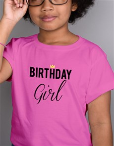 gifts: Birthday Girl Kids Pink T Shirt!