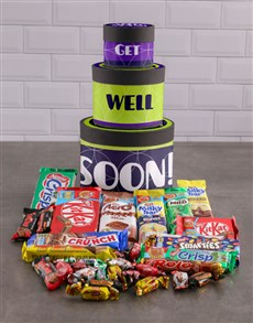 gifts: Get Well Soon Wrap Around Chocolate Tower Box!
