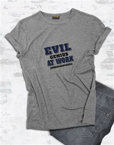 gifts: Evil Genius T Shirt!