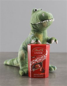 gifts: Dinosaur Teddy With Lindt!