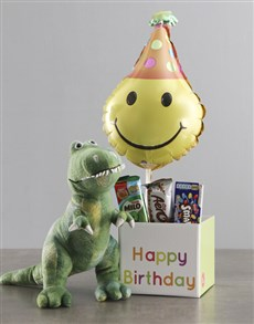 gifts: Dinosaur Teddy And Balloon Birthday Box!