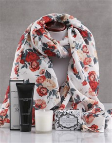 gifts: Floral Scarf and Charlotte Rhys Gift!