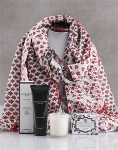 gifts: Red Paisley Scarf and Charlotte Rhys Gift!
