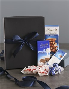 gifts: Lavish Blue And Black Chocolate Box!