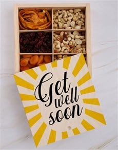 gifts: Get Well Soon Fruit And Nuts Treasure Box!