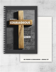 gifts: Strong And Courageous Journal!