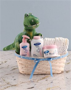 gifts: New Baby Dinosaur Rex Nappy Basket!