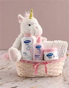 gifts: Teddy Unicorn Plush Nappy Basket!