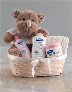 gifts: Teddy Rhino Plush Nappy Basket!