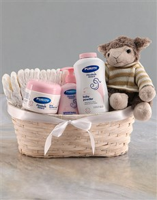 gifts: Teddy Sheep Plush Nappy Basket!