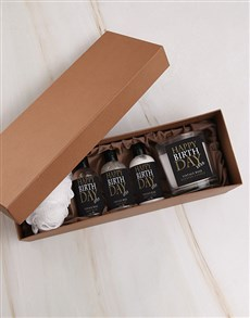 gifts: Gold Birthday Candle Gift Box!