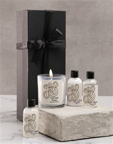 gifts: Black Thank You Candle Gift Box!
