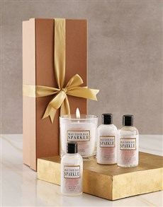 gifts: Gold Sparkle Candle Gift Box!