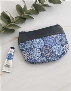 gifts: Loccitane Blue Marakesh Cosmetic Bag!