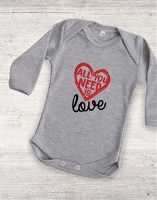 gifts: All You Need Is Love Onesie!
