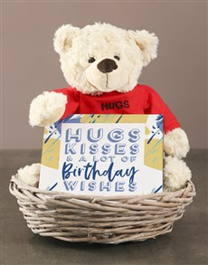 gifts: Hugs Teddy with Nougat and Basket!