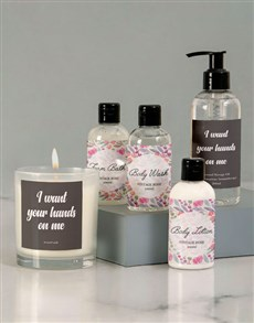 gifts: Your Hands on Me Massage Oil Set!