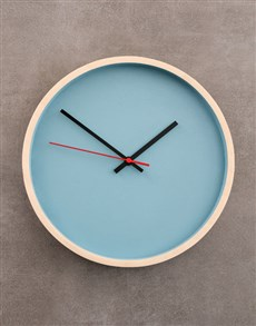 gifts: Blue Native Décor Clock!