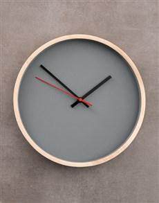 gifts: Grey Native Décor Clock!