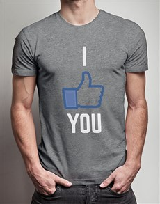 gifts: I Like You Grey Tshirt!